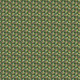 Baumwollstoff Blätter grün