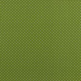 Baumwollstoff Punkte grün