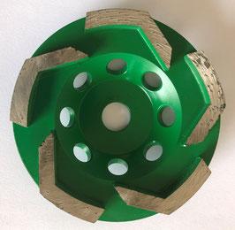 100mm Lシェイプカップ(グリーン)