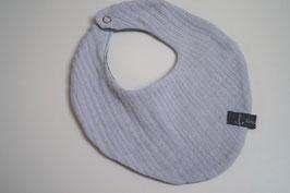 Wendehalstuch aus 100% Baumwolle - uni graublau / Rückseite uni altmint (Unikat)