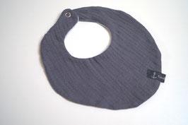 Wendehalstuch aus 100% Baumwolle - uni grau / Rückseite uni graublau (Unikat)