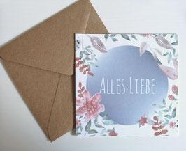 "Karte - ""Alles Liebe"""