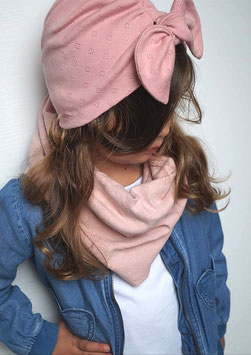 Mütze Turbanoptik - Baumwollstrick - Wunschfarbe