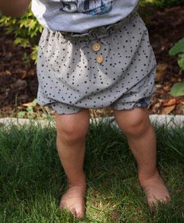 Shorts mit gerafftem Bund - grau oder beige
