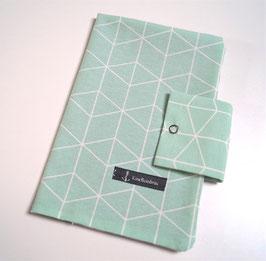 Windeletui Geo mint blassgrün (Unikat)