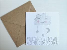 """Karte - """"Willkommen auf der Welt, kleiner großer Schatz"""""""