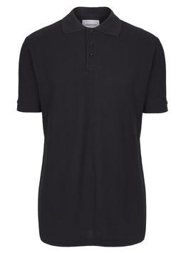 Poloshirt extra lang - Schwarz