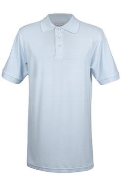 Poloshirt extra lang - Hellblau