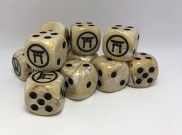 Black Gate Miniatures Signature Ivory Dice (Pack of 2)