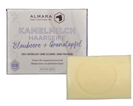 Kamelmilch-Argan Haarwaschseife Blaubeere & Granatapfel