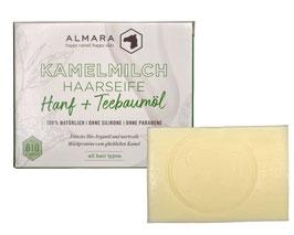 Kamelmilch-Argan Haarwaschseife Hanf & Teebaumöl
