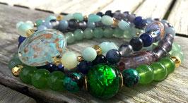 Aqua Venetiaanse Kralen Armbanden