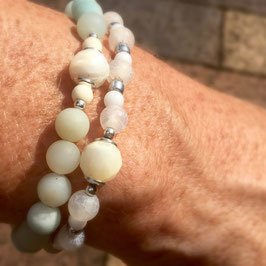 Mother of Pearl Stacked Bracelets