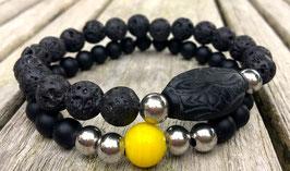 Zwarte Lava Heren Armbanden