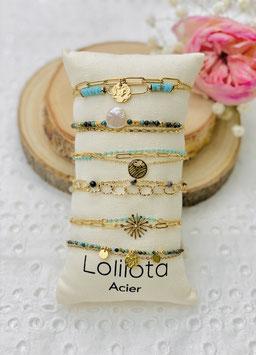 "Bracelets multirangs ""Yvone"" turquoise"