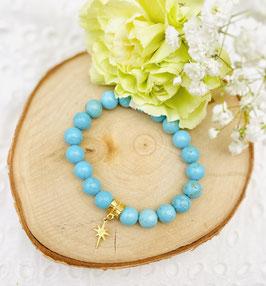 Bracelet étoile turquoise 8 mm