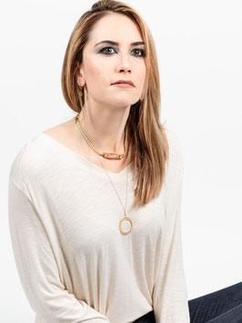 """T-shirt manches longues """"Jinelle"""" écru"""