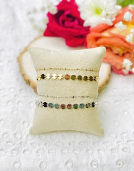 Bracelet 2 rangs ronds brillants