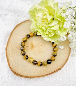 Bracelet bouddha oeil du tigre 8 mm