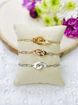 Bracelets menottes grosse maille
