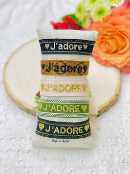"""Bracelet brésilien """"J'adore"""""""