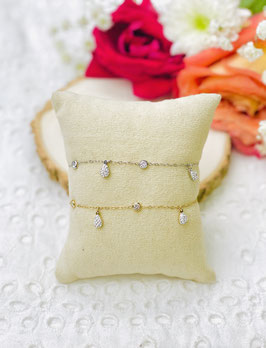 Bracelets gouttes cristal