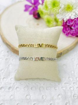 """Bracelets gourmette """"Love"""""""