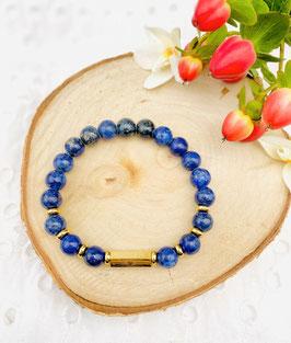 "Bracelet ""Wish, lucky, happy"" lapis lazuli 8mm"