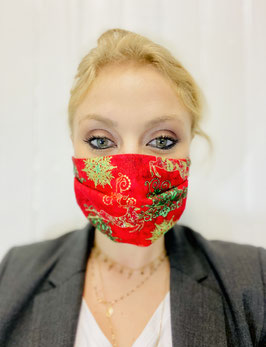 """Masques """"Renne"""" rouge et or"""