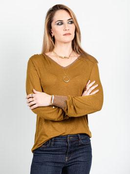 "T-shirt manches longues ""Yolo"" bronze"