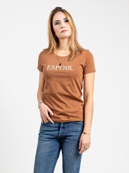 """T-shirt """"Espoir"""" camel"""