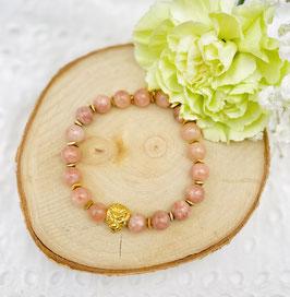 Bracelet lion pierre de soleil 8 mm