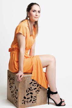 "Robe longue ""Binel"" orange"
