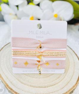 "Bracelet élastiques roses ""Juline"""