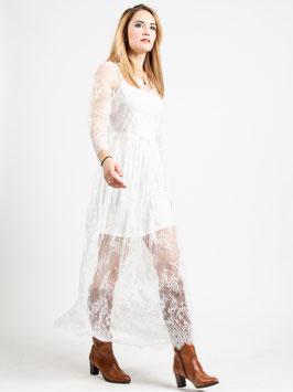 "Robe longue ""Kitty"" dentelle blanche"
