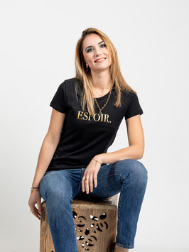 """T-shirt """"Espoir"""" noir"""