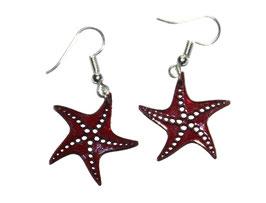 Boucles d'oreilles modèle étoiles de mer