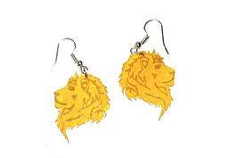 Boucles d'oreilles modèle lion