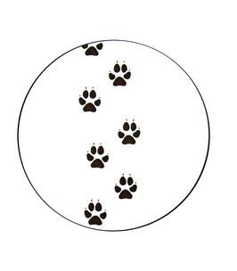 Dessous de verre patte animal (modèle 17)