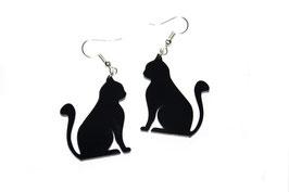 Boucles d'oreilles modèle chat