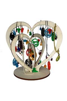 Arbre à bijoux modèle grands coeurs