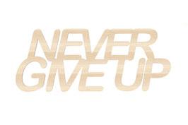 """""""Never give up """" en contreplaque peuplier"""