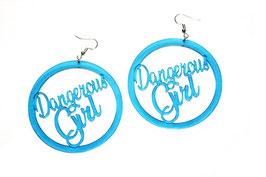 """Boucles d'oreilles rondes """"Dangerous Girl"""""""