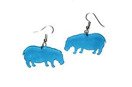 Boucles d'oreilles modèle hippopotame