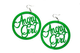 "Boucles d'oreilles rondes ""Angry Girl"""