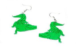 Boucles d'oreilles modèle crocodile