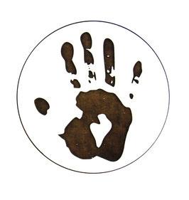 Dessous de verre empreinte main (modèle 21 )