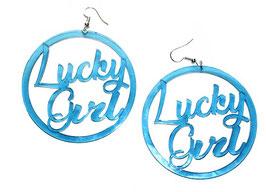 """Boucles d'oreilles rondes """"Lucky Girl"""""""