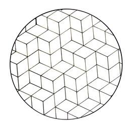 Dessous de verre trompe oeil (modèle 11)