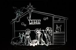 Crèche de Noel illuminée modèle 1